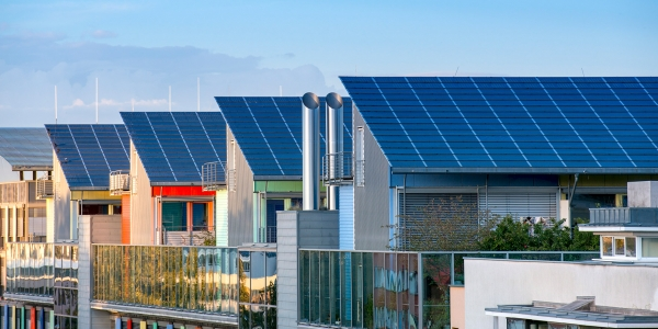 Solaranlage auf Wohnhäusern